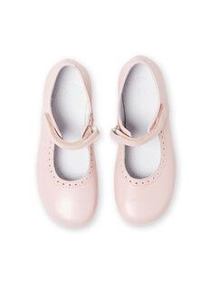 Baby girl pale pink sandals LFBABSONIAP / 21KK3534D13301