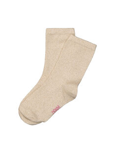 Girls' glitter socks FYAJOCHO4B / 19SI0135SOQ099