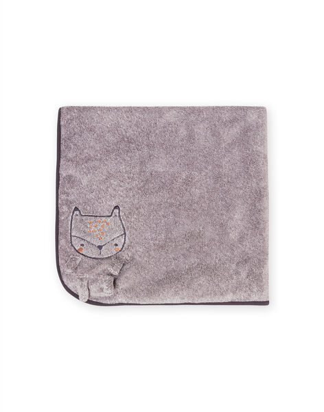Mixed birth grey blanket with fox pattern MOU1COUV / 21WF4241D4PJ922