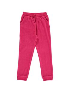 Girls' velour jogging bottoms DAJOBAJOG2 / 18W901C2D2A310