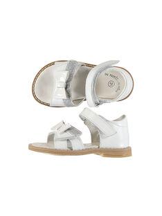 Baby girls' smart leather sandals FBFSANDVEL / 19SK37C3D0E000