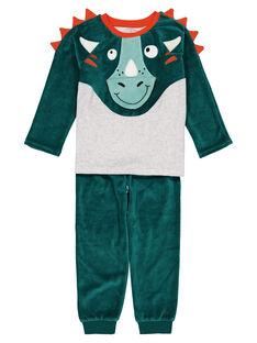 Green Pajamas GEGOPYJDINO / 19WH1256PYJG614