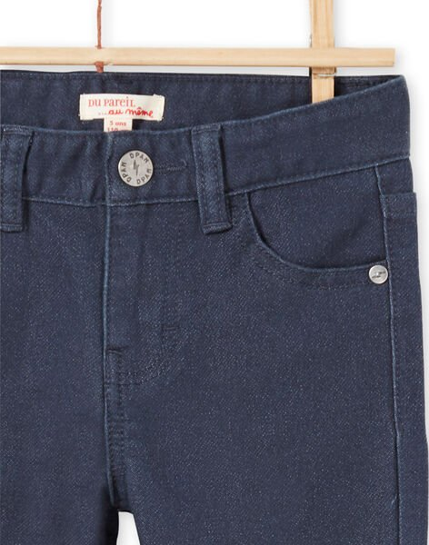 Boy's solid navy blue jeans MOJOPAKNI2 / 21W90226PANC202