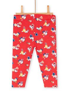 Red Leggings baby girl print LYIHALEG / 21SI09X1CAL505