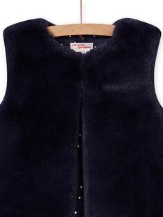 Reversible sleeveless faux fur vest blue night child MAPLACAR1 / 21W901O2CARC202