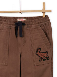 Boy's military print multi-pocket pants MOSAUPAN / 21W902P1PANI807