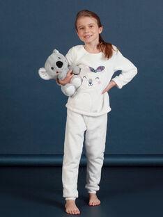 Girl's soft boa pajama set with koala pattern MEFAPYJKOA / 21WH1199PYJ001