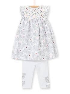 Short sleeve dress and leggings set birth girl LOU1ENS1 / 21SF03H2ENS000