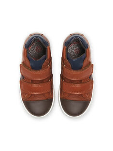 Camel leather sneakers child boy MOBASNEWTAN / 21XK3674D3F804