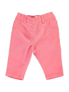 Baby girls' twill trousers CIJOPAN2 / 18SG09R2PAN404