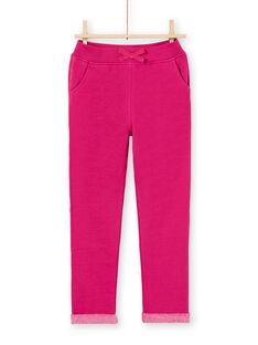 Dark pink JOGGING PANT MAJOBAJOG4EX / 21W90117JGBD312