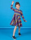 Black and blue striped dress LANAUROB2 / 21S901P1ROBC205