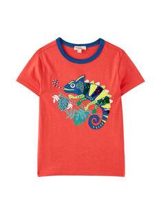 Dark orange T-shirt JOSAUTI1 / 20S902Q1TMC408