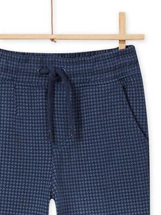 Baby Boy Star Print Midnight Blue Jogging Shorts MOPLAPAN2 / 21W902O2PAN705