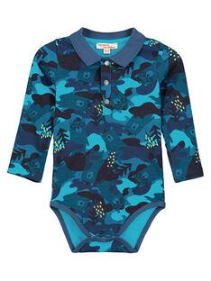 Medium turquoise Body suit GUTUBOD / 19WG10Q1BOD209