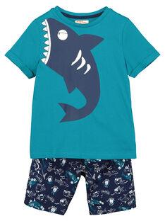 Boys' T-shirt and shorts set FOPLAENS3 / 19S902P3ENS210