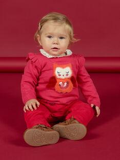 Baby girl pink owl sweater MIFUNPUL / 21WG09M1PULD332