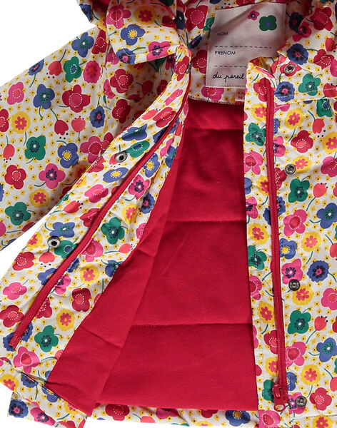 Baby girls' hooded raincoat FICOIMP / 19SG09X1IMP099