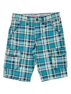 Boys' checked shorts CODOUBER4 / 18S902J3BER616