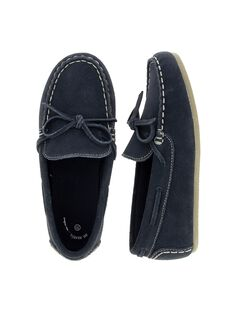 Boys' split leather moccasins CGBATMOC / 18SK36W4D4NC218