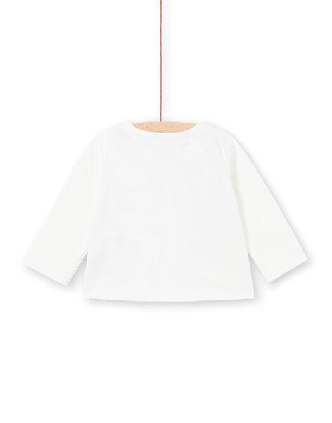 White T-shirt long sleeves baby girl LINAUTEE / 21SG09L1TML001