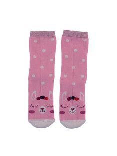 Pink Socks GYABRUCHODER / 19WI01K2SOQD328