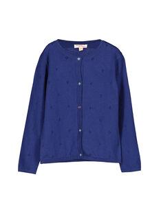 Girls' lacy knit cardigan FANECAR1 / 19S901B1CAR703