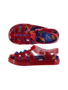Boys' jelly sandals with fins FGBAINMUL / 19SK36G1D34050