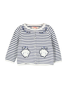 Baby girls' striped cardigan FINECAR1 / 19SG09B1CAR000