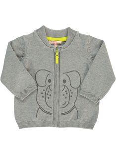 Baby boys' cotton cardigan CUJOGIL2 / 18SG10R2GILJ908