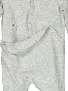 Baby boys' cotton sleepsuit FEGAGRECRO / 19SH1446GREJ906