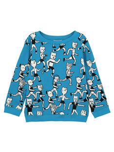 Sweat Shirt Léger col rond Turquoise GOJOSWE2 / 19W90243SWBC200