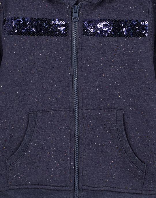 Heathered blue Jogging top GAJOHAUJOG1 / 19W90133D33222