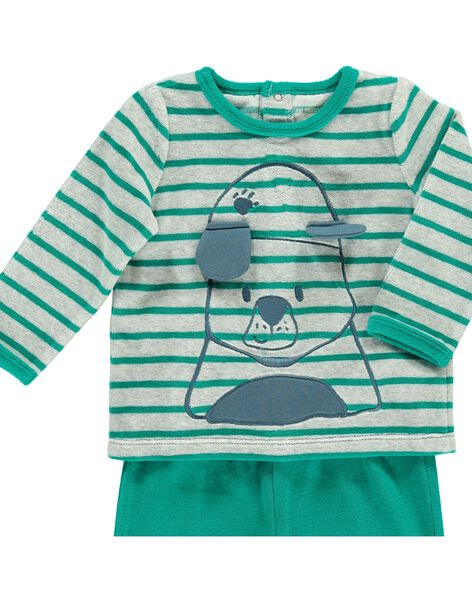 Baby boys' velour pyjamas CEGUPYJDOG / 18SH1442PYJ099