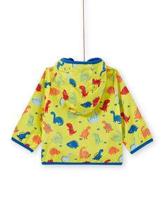 Baby boy yellow hooded coat LUGROBLOU / 21SG10R1MAN102