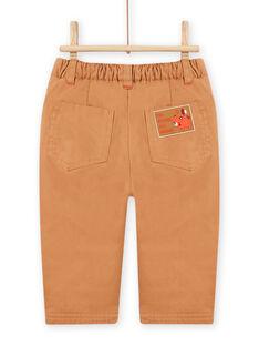Baby boy brown teddy bear pants MUFUNPAN2 / 21WG10M2PANI820