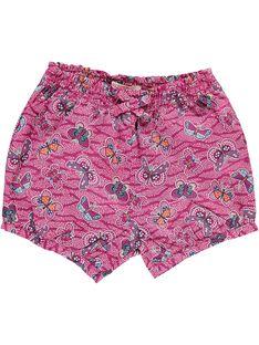 Baby girls' printed shorts CIGAUSHO1 / 18SG09L2SHO099