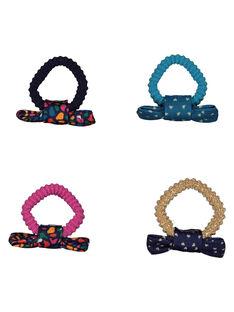 Set of girls' bow hair elastics GYAMUELA2 / 19WI0177ELA001