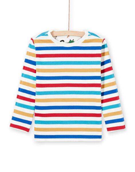 Boy's White Reversible T-Shirt MOMIXTEE1 / 21W902J1TML810