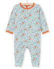 Baby boy's green and orange dog print sleep suit MEGAGREAOP / 21WH1434GRE219