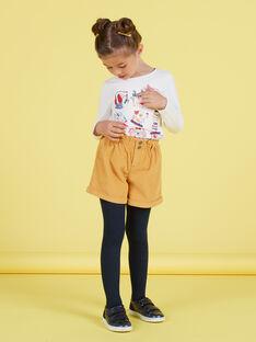 Girl's high waist mustard shorts MAMIXSHORT / 21W901J1SHOB106