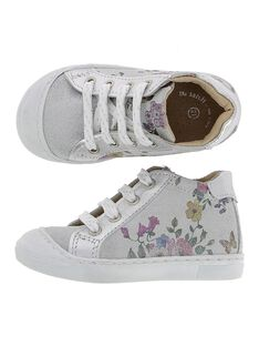 Baby girls' leather city trainers. CBFBASFLEUR / 18SK37W1D3F956