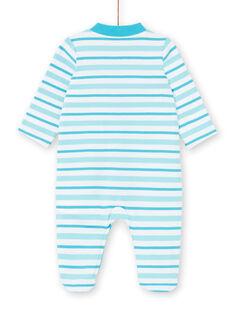 Striped sleep suit boy striped dinosaur pattern LEGAGRETIR / 21SH1455GRE000