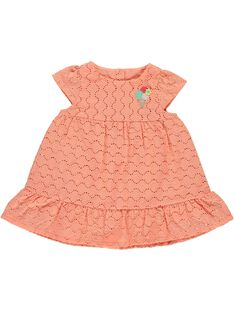 Baby girls' embroidered dress CIBUROB3 / 18SG09K1ROB401