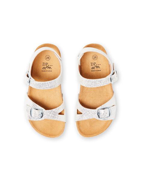 Silver sandals for baby girls LFNUARGENT / 21KK355QD0E956