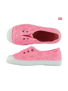 Girls' embroidered canvas trainers FFTENBROD1 / 19SK35B4D16030