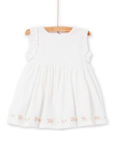 White baby girl dress LIBALROB2 / 21SG09O4ROB000