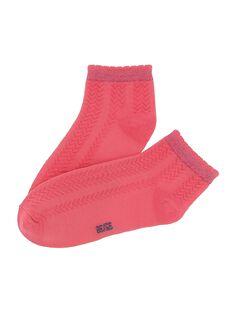 Dark pink Socks CYAJOCHO6A / 18SI01RDSOQD312