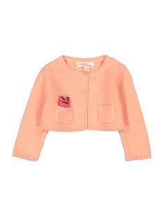 Baby girls' knit cardigan FIBACAR2 / 19SG0962CAR404