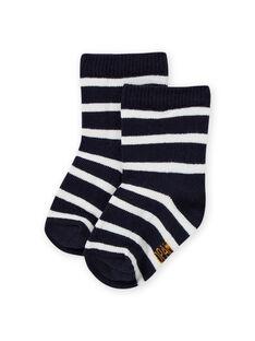 Baby boy's midnight blue striped socks MYUJOCHOR1 / 21WI1012SOQ713